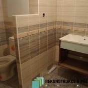 Detail vyřešení splečného WC s koupelnou (Modřany, krouzova ulice  byt 3+1)